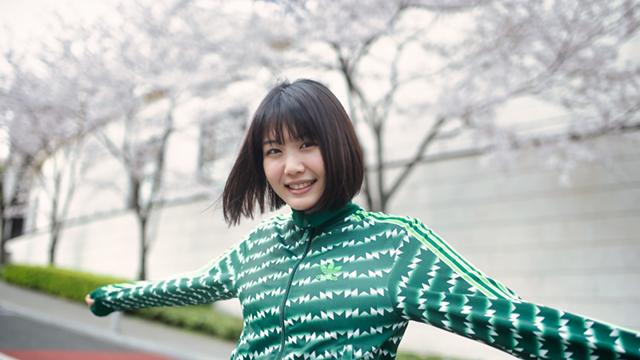 【ポートレート】大石理乃、ジャージ、桜
